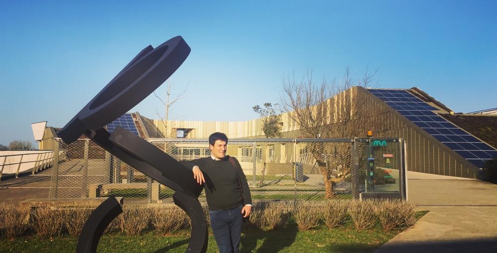 Juan Antonio Leza en la sede del Basque Culinary Center en San Sebastián